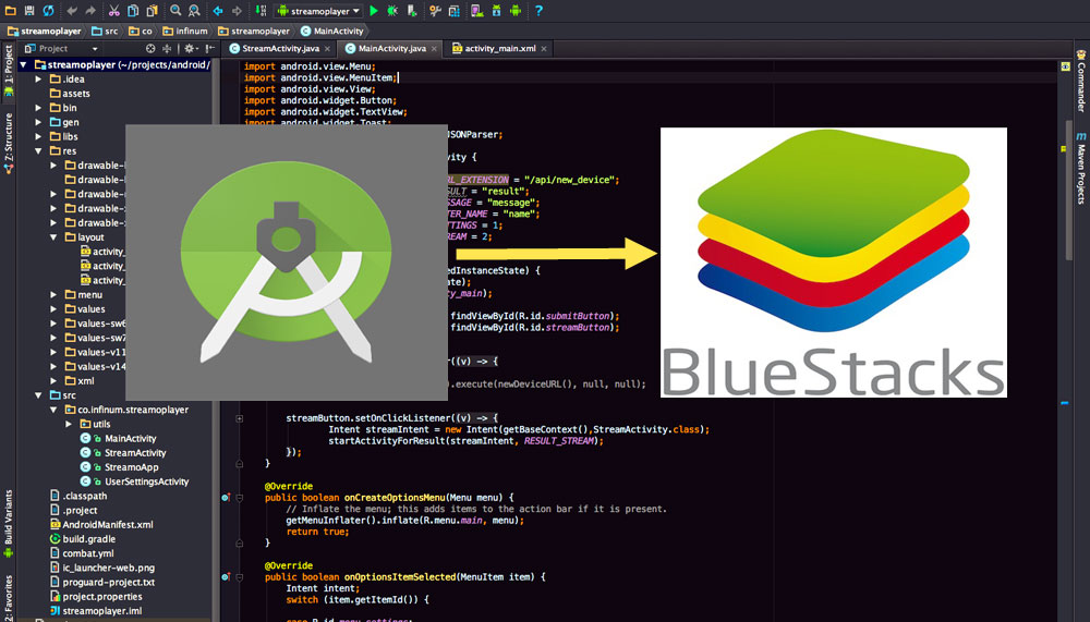 فیلم آموزشی Connect Bluestacks to Android Studio