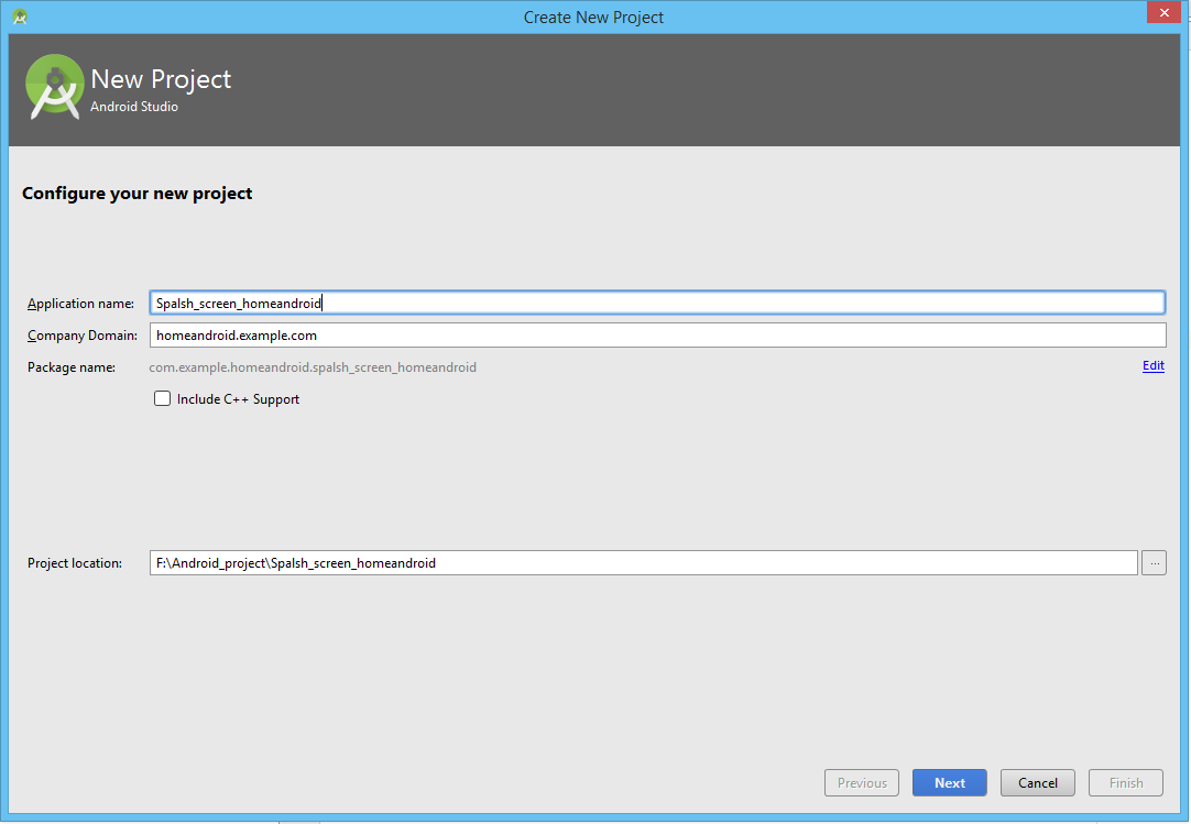 create project new android studio