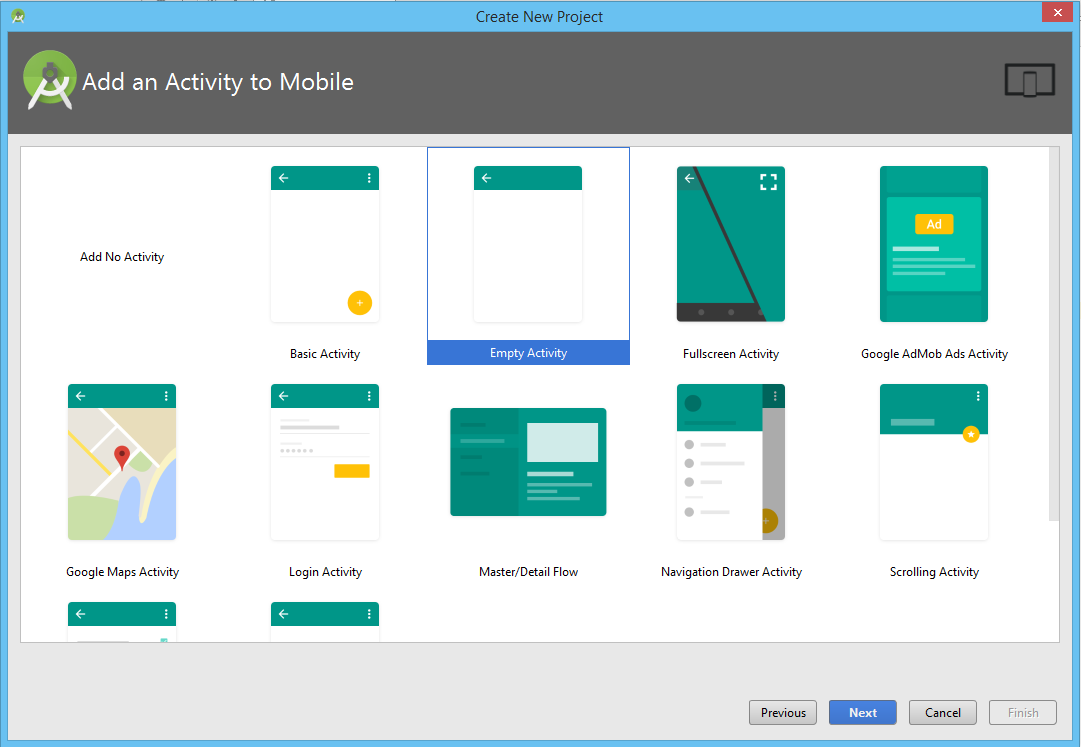 select activity android studio