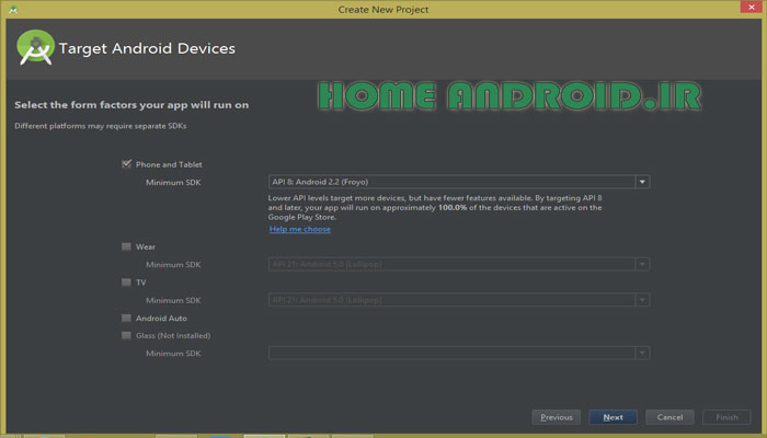 Select Minimum Sdk Android Studio