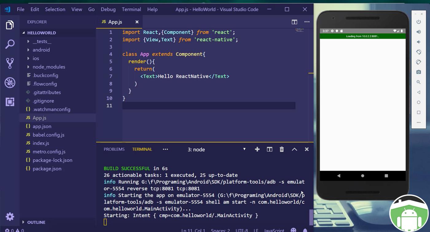 دوره آموزش React-native ساخت اپلیکیشن فروشگاهی